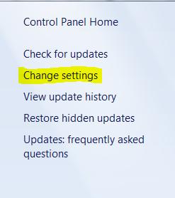 change-setting