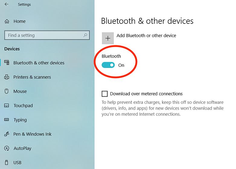 on-bluetooth-service-on-windows-10