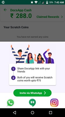 DocsApp-Refer-Code-and-Earn-Upto-70-Rs-Paytm-Cash-per-Referral