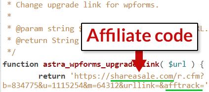 wordpres-astra-affiliate-code